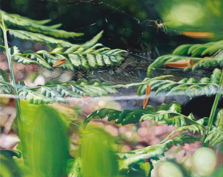 Kleines Gespinnst, 80 x 100 cm, 2014, Öl auf Leinwand