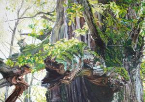 Old Mrs Sensation, 112 x 158 cm, 2013, Öl auf Leinwand