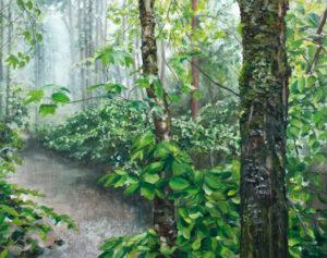 Schauer, 110 x 140 cm, 2014, Öl auf Leinwand