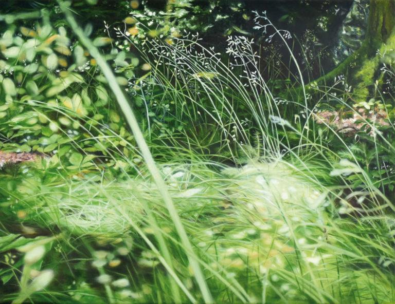 Sommergras, 50 x 65 cm, 2018, Öl auf Leinwand
