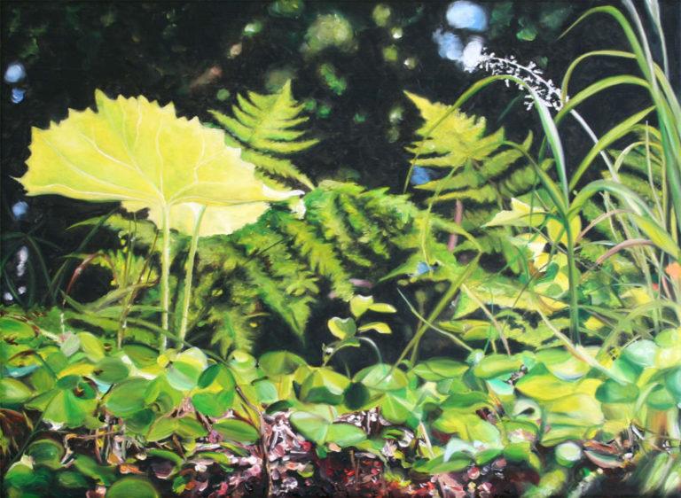 Sunnyside up, 45 x 60 cm, 2014, Öl auf Leinwand