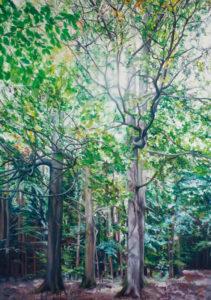 Anpflanzung, 180 x 130 cm, 2010, Öl auf Leinwand